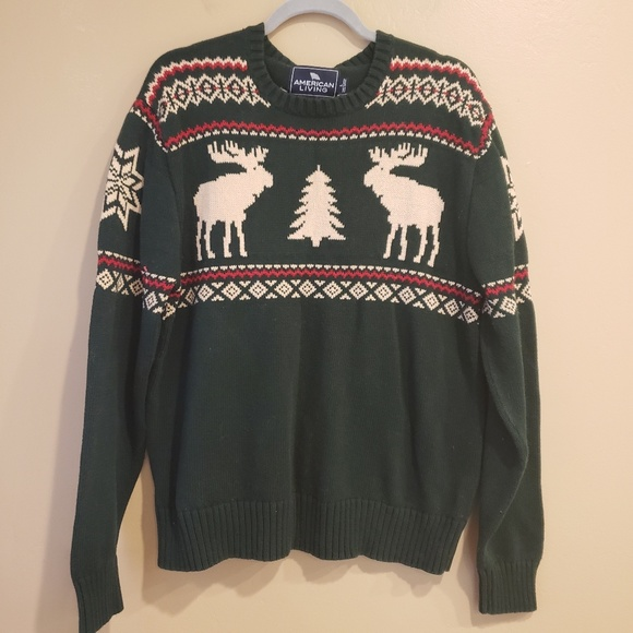 Mens Christmas Sweaters.American Living Mens Christmas Sweater